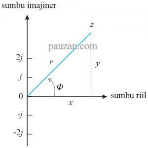 bilangan kompleks ke bentuk kartesian dan polar