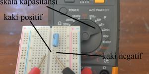 koneksi probe lcr meter ke kapasitor